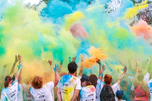 participants à une color run