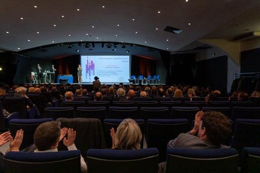 Séminaire d'entreprise dans un auditorium à Paris