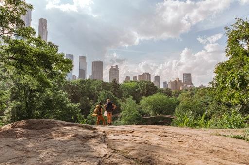Randonneurs au coeur de Central Park à New-York